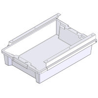 Packing station table storage drawer with fittings