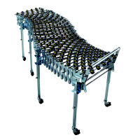 Flexible extendable conveyor for parcels up to 70kg